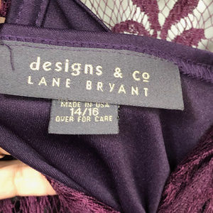 Lane Bryant Tops - Lane Bryant designs & co Lace top with Tank -14/16